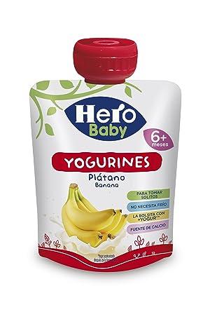 Hero Baby Bolsita Yogurines Plátano para Bebés a partir de 6 ...