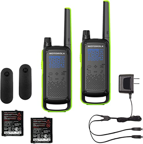 Motorola Talkabout T801 Bundle Two-Way Radios, 2 Pack, Black Green