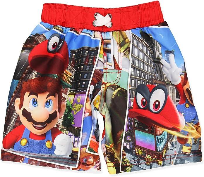 Amazon.com: Super Mario Nintendo Odyssey - Bañador para niño ...