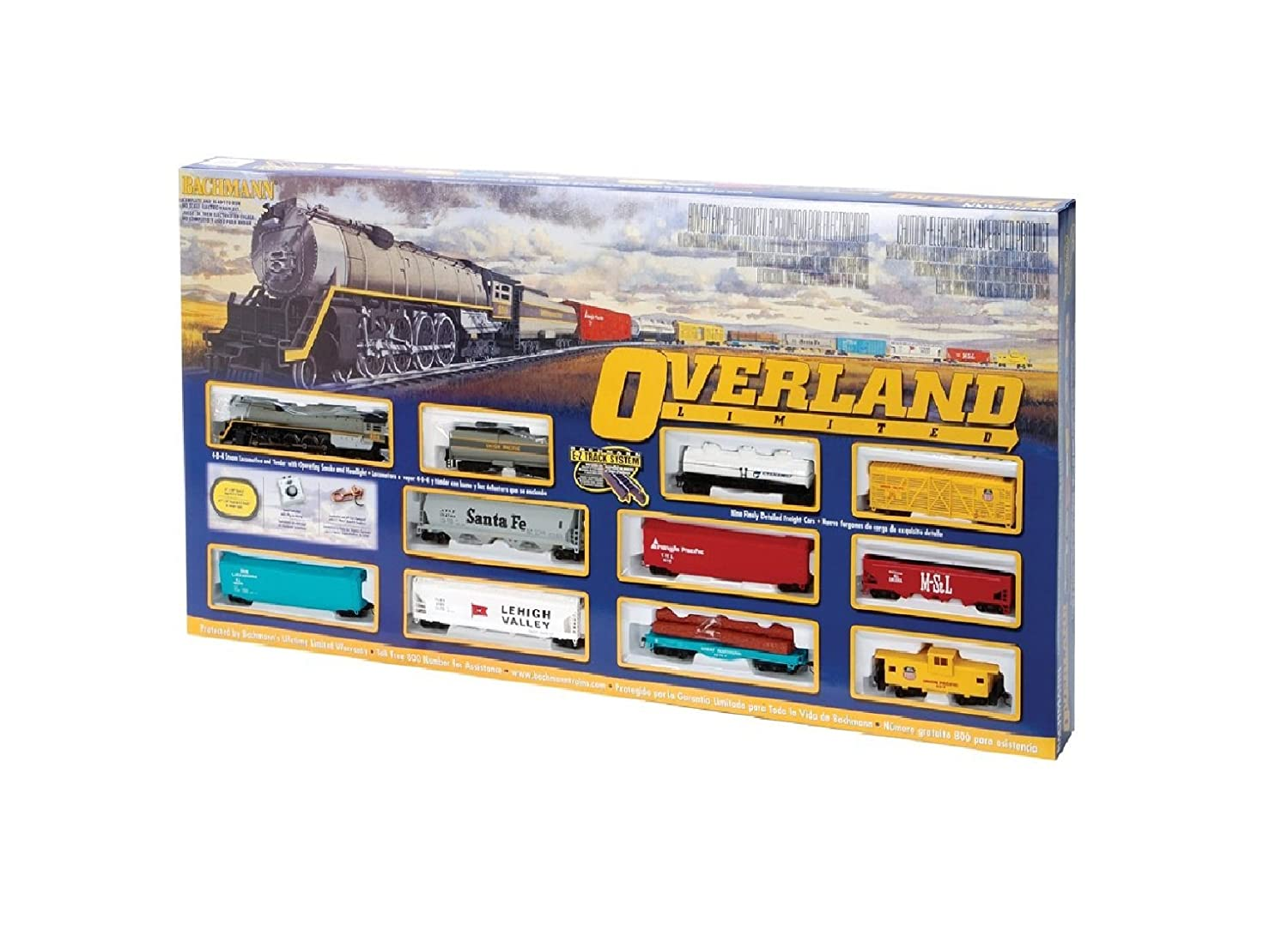 Bachmann Trenes Overland Limitada Ready - To - Run Ho Escala de Tren de: Amazon.es: Amazon.es