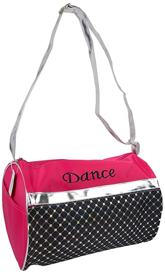 a56ff02d65bf Amazon.com | 1PerfectChoice Girl's Dance Bag Duffle Laser Sequined ...