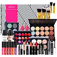 Joyeee All-in-One Makeup Gift Set Travel Makeup Kit Complete Starter Makeup Bundle Lipgloss Lipstick Concealer Blushes…