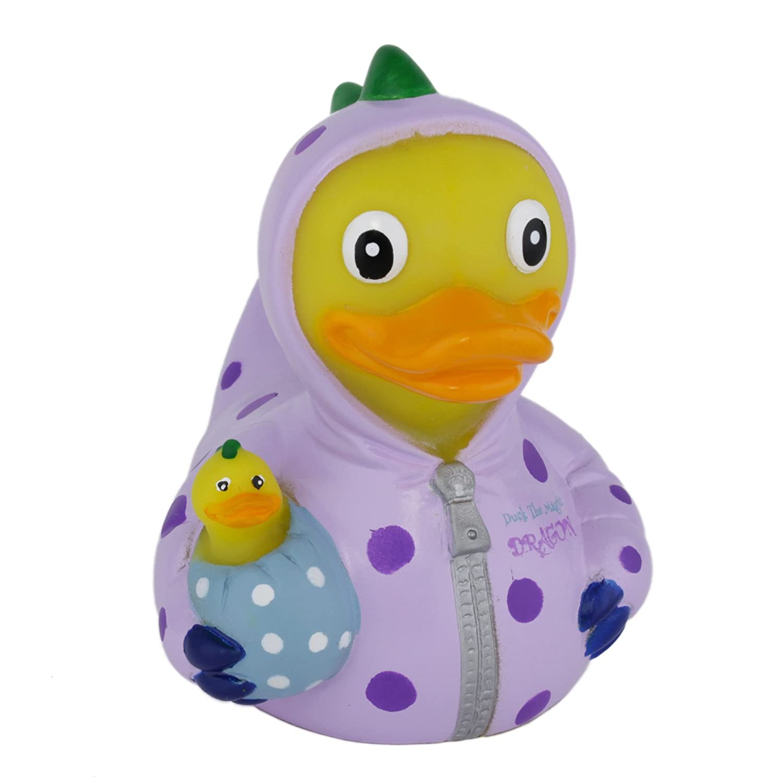 Amazon.com: CelebriDucks Duck the Magic Dragon Rubber Duck Bath Toy ...