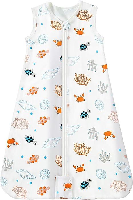 Mosebears Saco de dormir Saco de dormir de verano para bebé 0.5 Saco de dormir de bebé Tog Saco de dormir de bebé transpirable 100% algodón: Amazon.es: Hogar