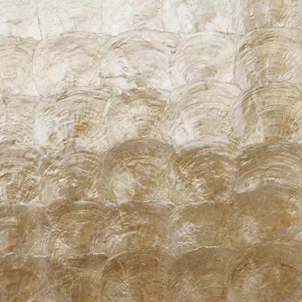 AFSJ Genuine Mother of Pearl Capiz Tile for Bathroom/Kitchen/Spa Backsplash Pack of 5 Sheets