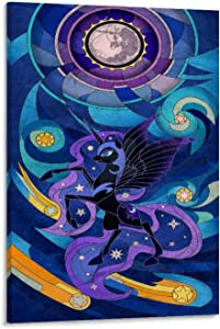 BDDB Nightmare Moon My Little Pony Canvas Art Poster and Wall Art Picture Print Modern Family Bedroom Decor Posters 24x36inch(60x90cm)