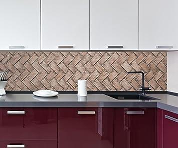 Küchenrückwand Gewebtes Holz Nischenrückwand Spritzschutz Design ...