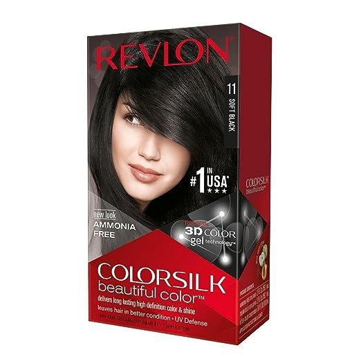 Revlon ColorSilk Beautiful Color, Soft Black [1[11] ea (Pack of 4)