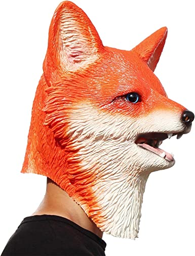 Fox Deluxe Mask And Tail Set One Size