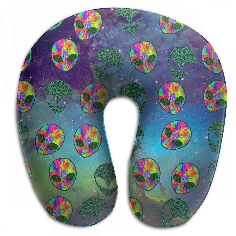 Amazon.com: Comfort Tie Dye Weed Alien Head Leaf Memory Foam ...