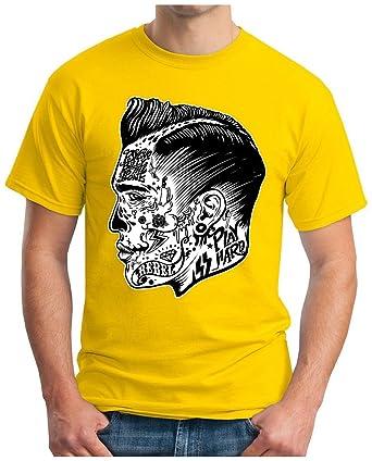 OM3 - PSYCHO-BILLY - T-Shirt, S, gelb