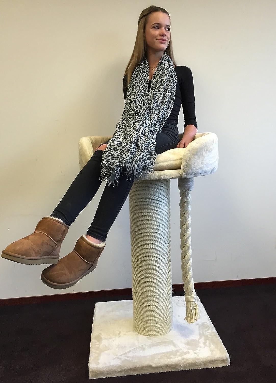 Rascador para gatos grandes Chartreux Crema baratos arbol xxl maine coon gato adultos gigante sisal muebles sofa casa escalador casita escalador torre Árboles rascadores cama cueva repuesto medianos