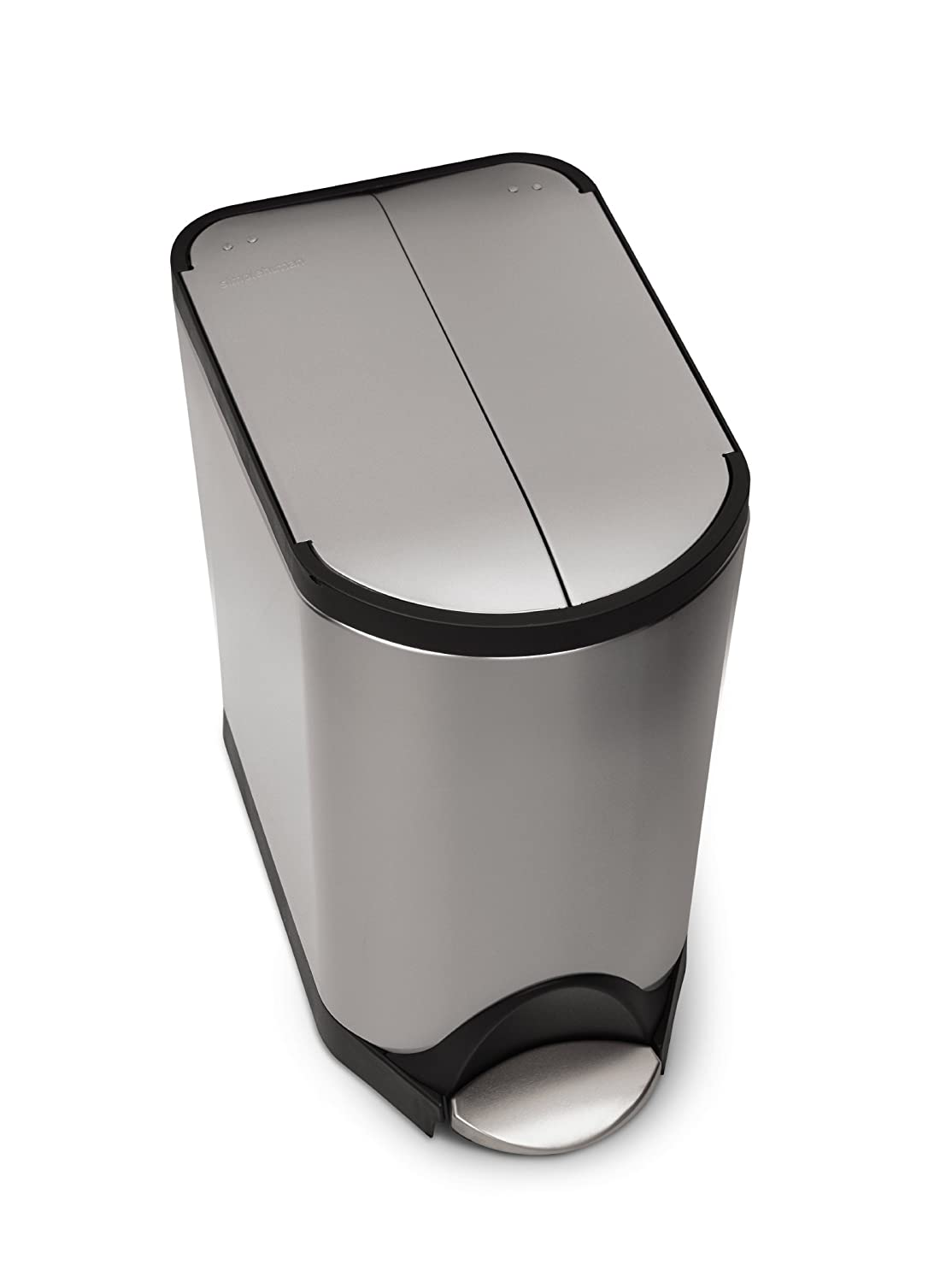 Amazon.com: Simplehuman Butterfly Step Trash Can, Stainless Steel, 20 L /  5.3 Gal: Home U0026 Kitchen