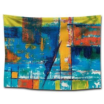 DuDuDu Tapiz Pintura Abstracta Colgante paño Sentado Manta Tapiz Fondo Playa Toalla casa Colgando una decoración Pintura Mantel de Ative: Amazon.es: Hogar