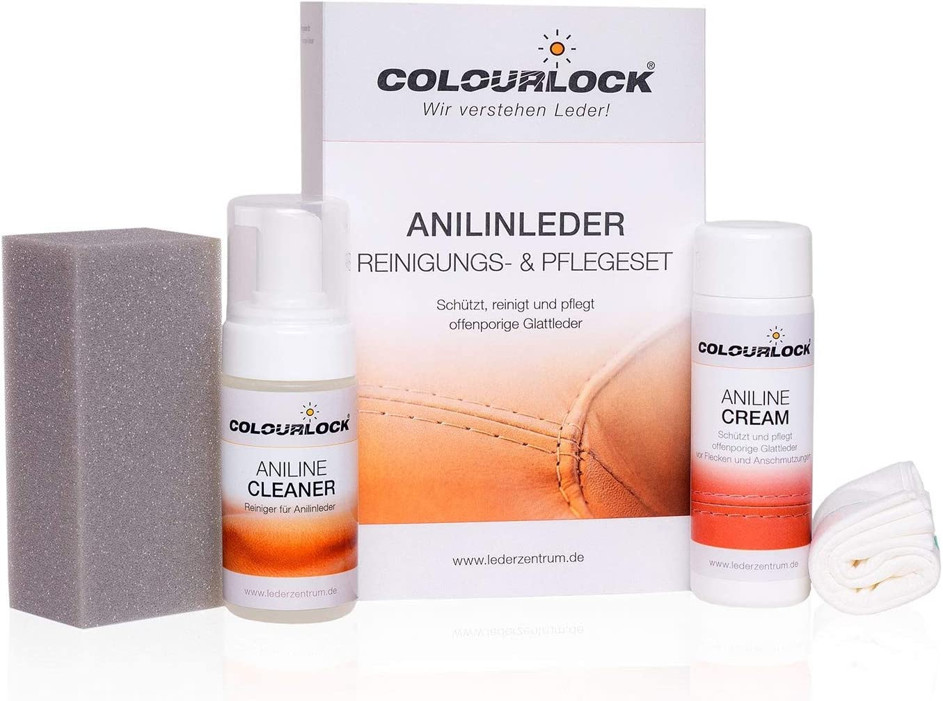 Colourlock Lederpflegeset Naturbelassen Für Anilinleder Drogerie Körperpflege