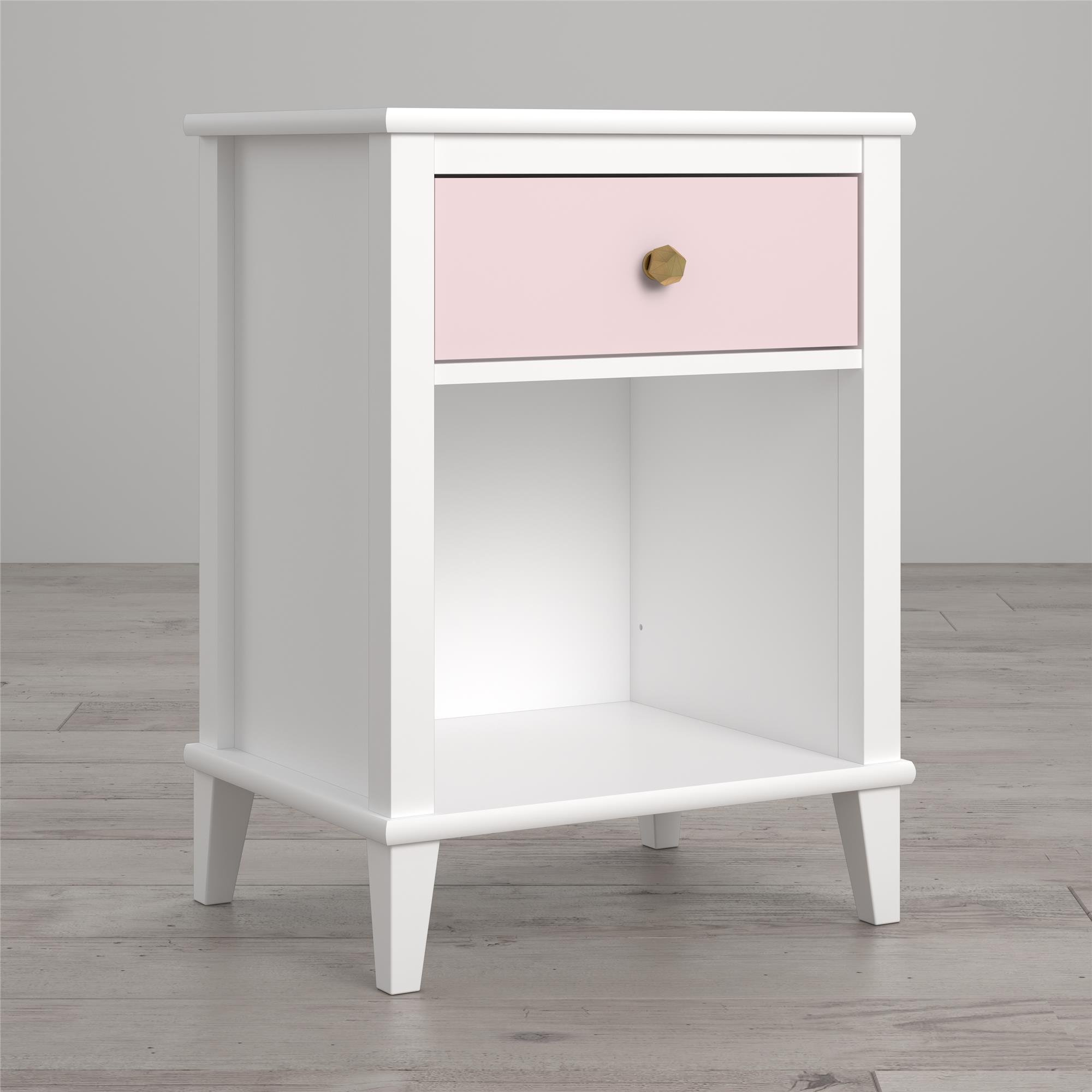 Little Seeds Monarch Hill Poppy Nightstand, White/Pink
