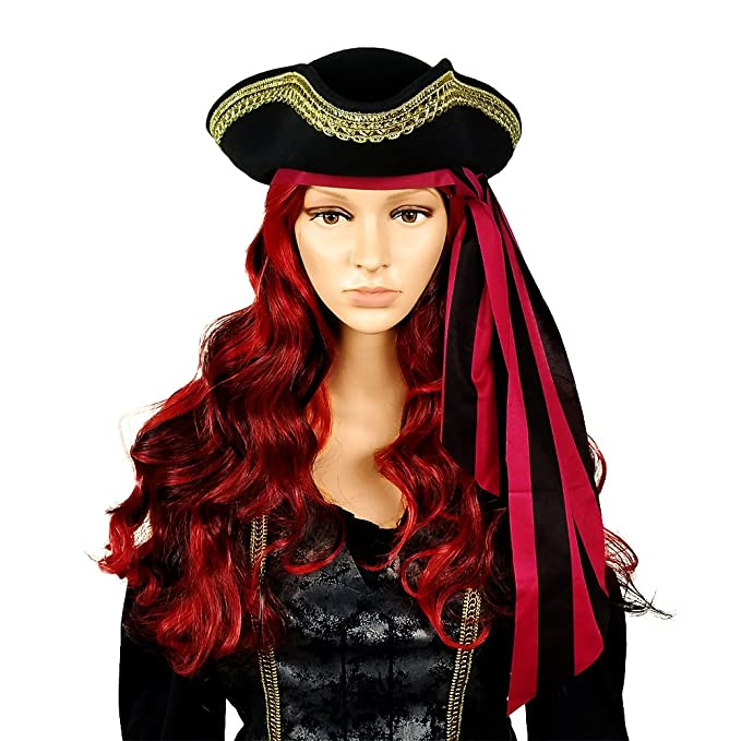 2b24be8c8 Tricorn Hat Pirate Hat- Colonial Or Revolutionary War Costume – Men Women &  Youth