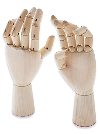 Wooden Hand Mannequin Hands Artist Drawing Movable Finger Joints 12 30cm Left Hand