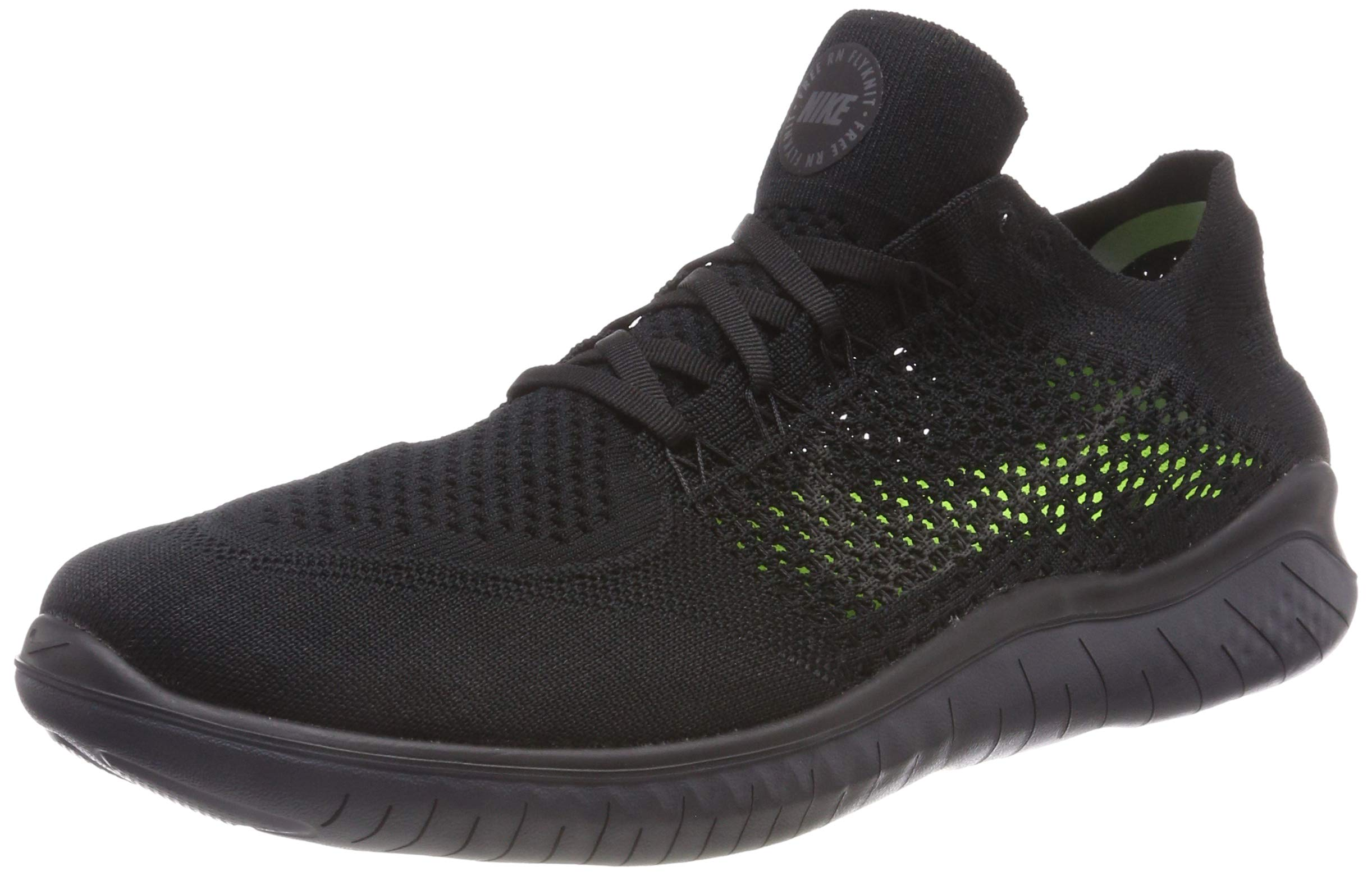 fb74f4b5 Nike Men's Free RN Flyknit 2018 Black/Anthracite 12.0