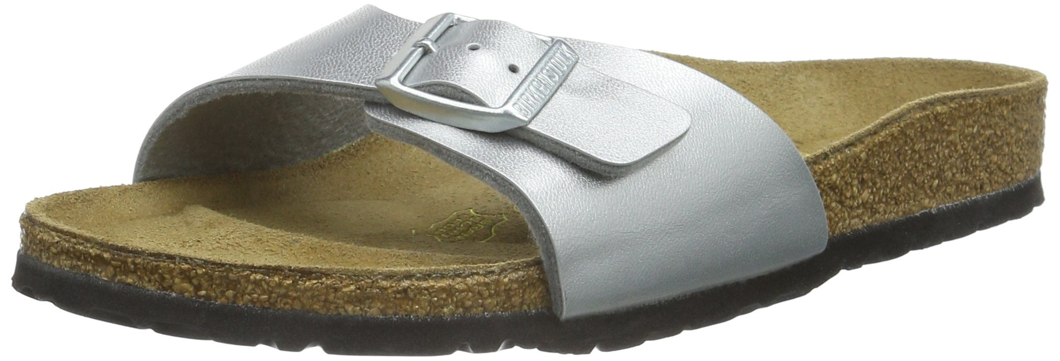 Birkenstock womens Madrid in silver from Birko-Flor Sandals 35.0 EU N