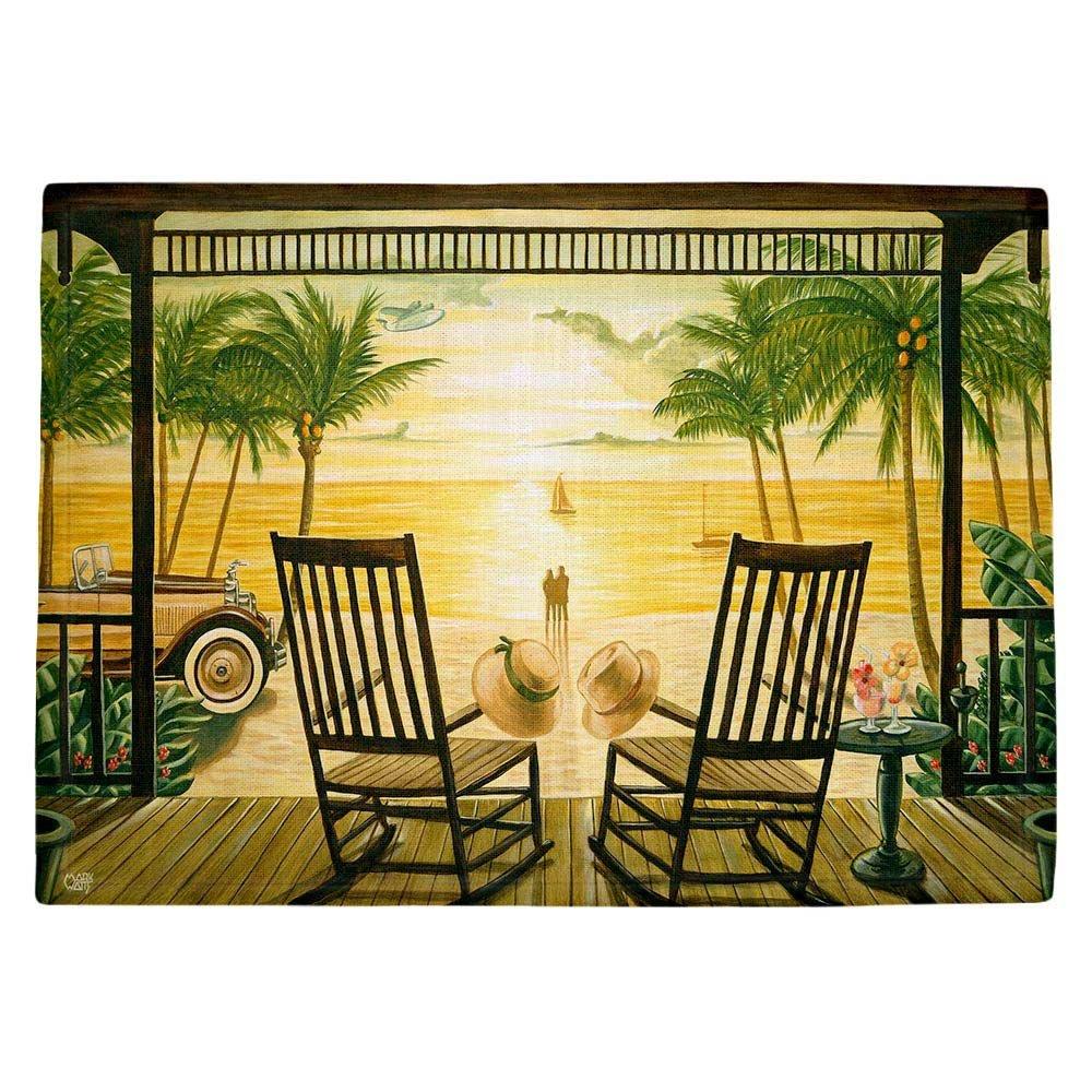 DIANOCHEキッチンPlaceマットbyマークワット – Sunset Serenade Set of 4 Placemats PM-MarkWattsSunsetSerenade2 Set of 4 Placemats  B01EXSJB7M