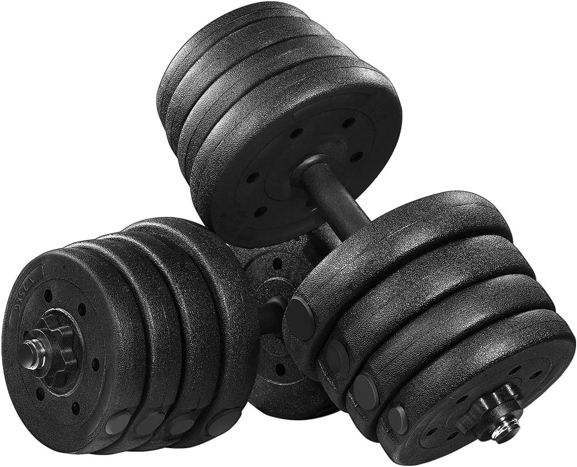 50KGNEW SEALED Opti Barbell Dumbbell SetBar Weights Plates West Malling