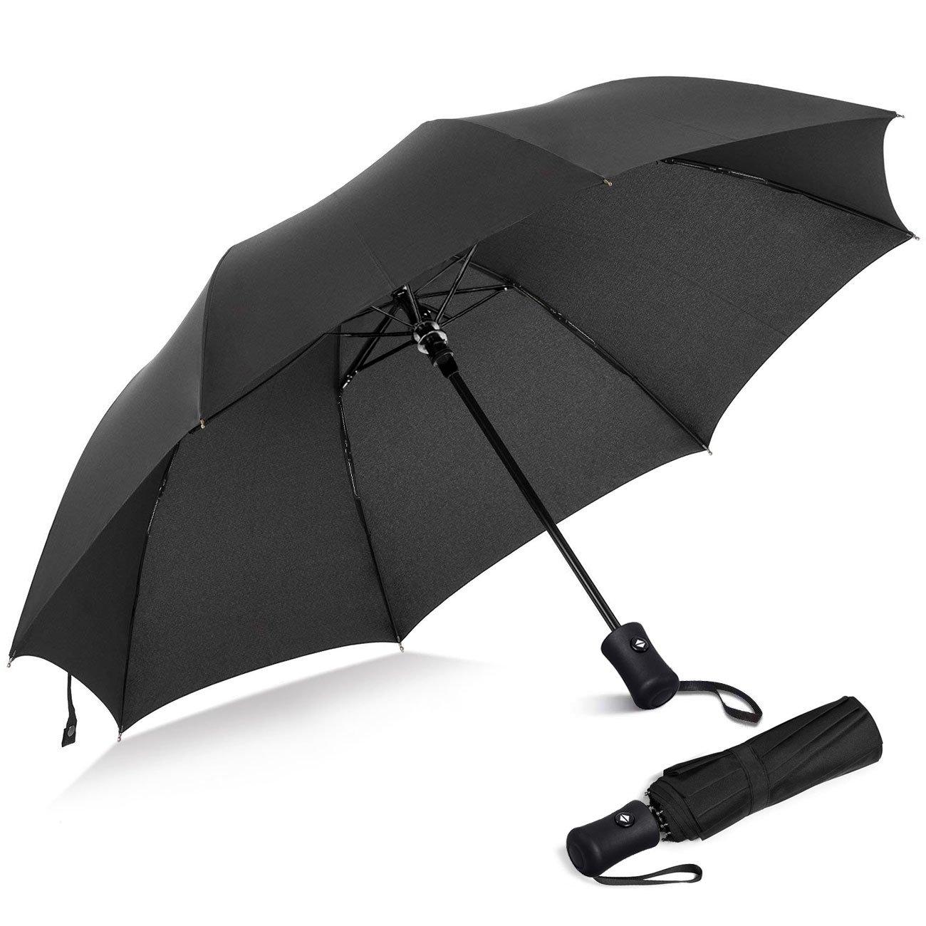 Windproof Compact Light Weight Travel Automatic Open/Close Triple Fold Umbrella
