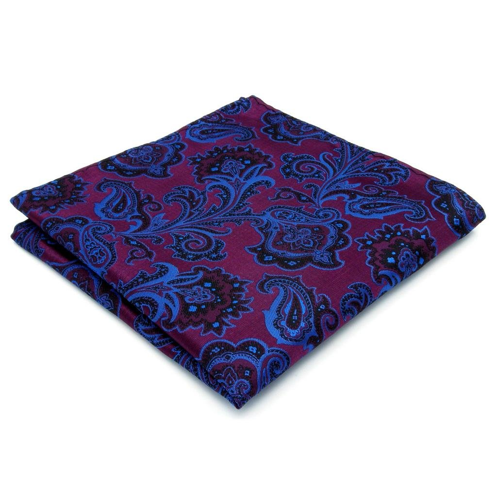 Shlax&Wing Purple Geomitric Handkerchieves Mens Neckties Hanky Pocket Square KH13