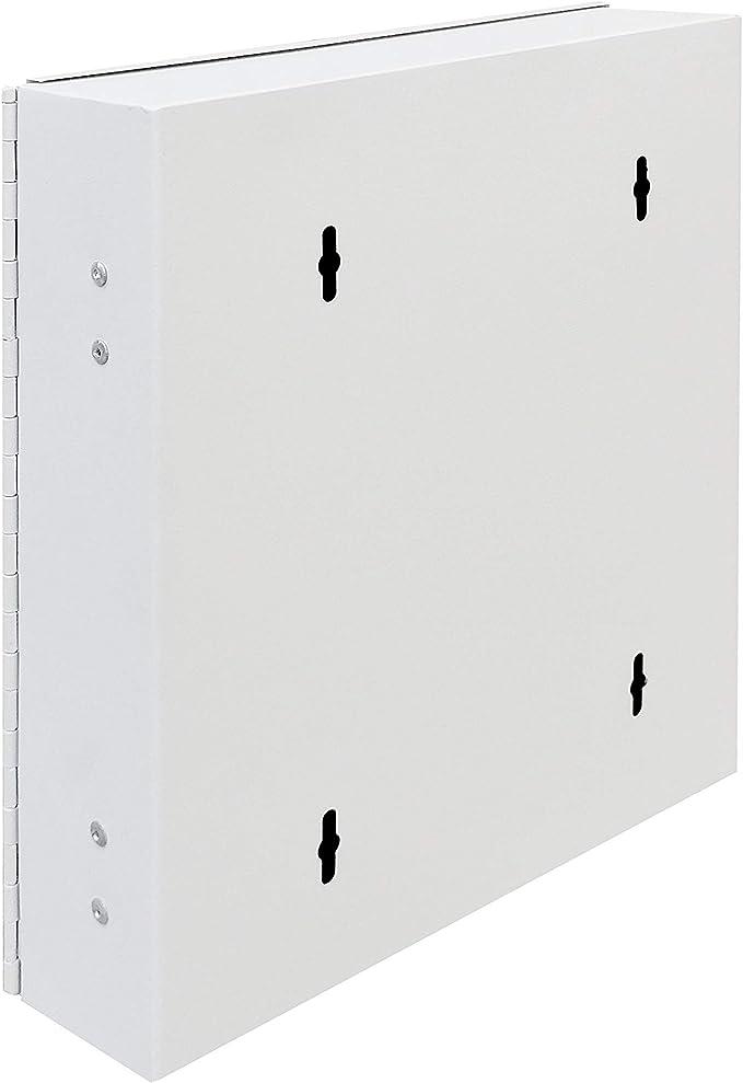 Secure Steel Key Storage Cabinet 93 Keys Gray Box Garage Wall Organizer Lock New 15124