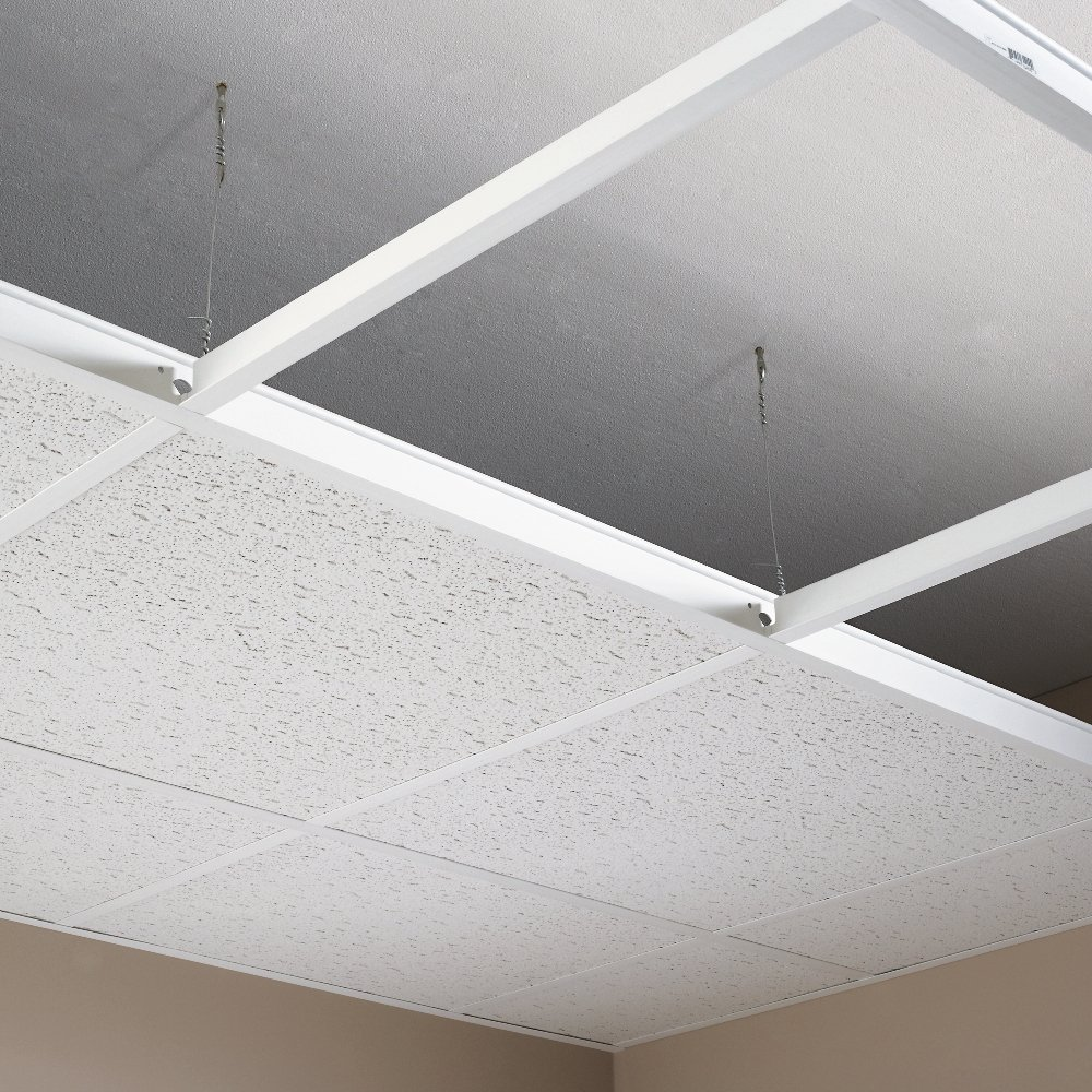 Amazon hg grid 100 sq ft white suspended ceiling kit home white suspended ceiling kit home kitchen dailygadgetfo Images