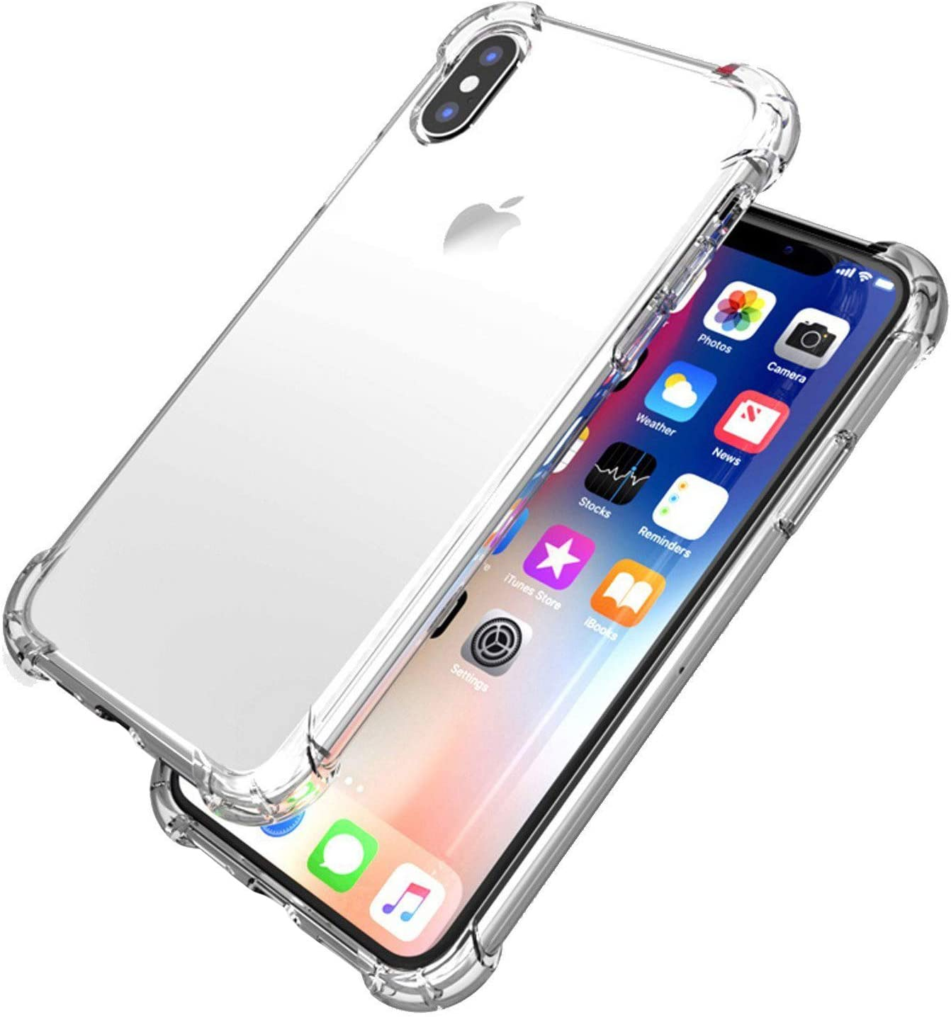 "Transparent Phone XR Case, Shockproof Bumper Clear Silicone Case Cover Compatible for iPhone XR 6.1"", Flexible Clear Protective Cover Phone Cases"