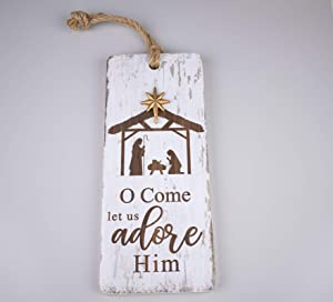 No/Brand Collective Home-O Holy Night, Let Us Adore Christmas Decor, Christmas Sign, Nativity Wisemen Christ Jesus, Religious, Holiday, Home