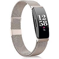 Funbiz Compatibel met Fitbit Inspire Bandje/Inspire HR Bandje, Roestvrij Staal Metalen Gaas met Uniek Slot Compatibel…