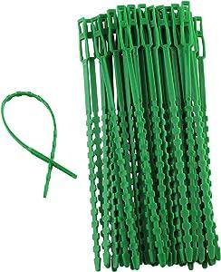 AXLIZER 100pcs Adjustable Garden Plant Twist Ties Multi-Use Flexible Plastic Twist Ties for Plant Fixing Frame, Shrub, Cable Tie Secure Vine