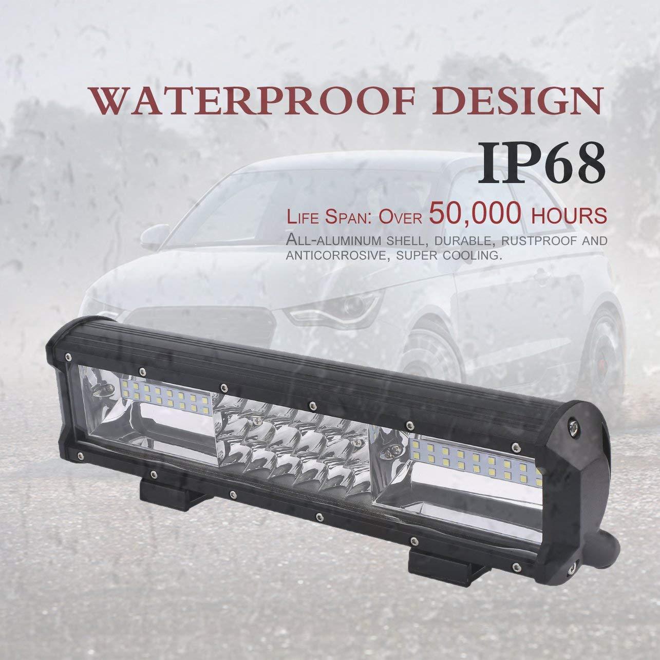 54pcs barra ligera del coche LED 162W luz del trabajo del LED punto combinado de inundació n del camió n del camino (color: negro y claro) WOSOSYEYO