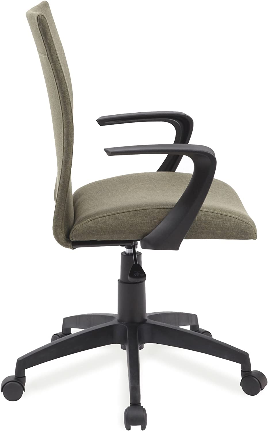 Leick Grey Linen Apostrophe Office Chair with Black Caster Base