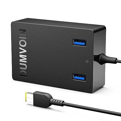 Lenovo Cargador Lenovo Charger DUMVOIN de 20V 3.25A 65W con 2 USB Charging de para LENOVO Yoga, IdeaPad, ThinkPad y más