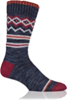 Urban Knit Mens 1 Pair Fair Isle Wool Blend Boot Socks
