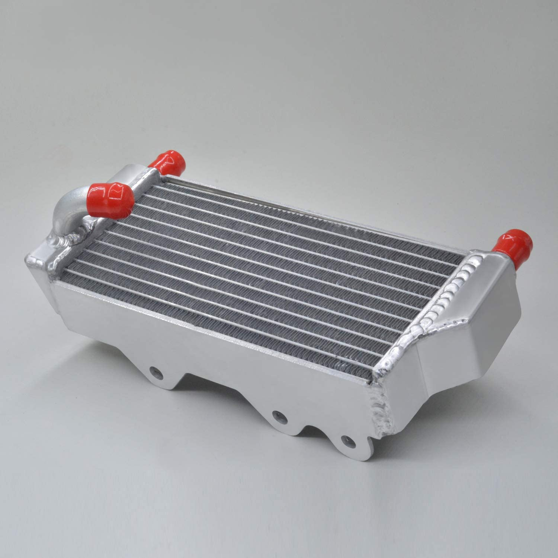 aluminum aluminum alloy radiator compatible with Kawasaki KX250 KX 250 2-stroke 1999-2002 silicone hose blue