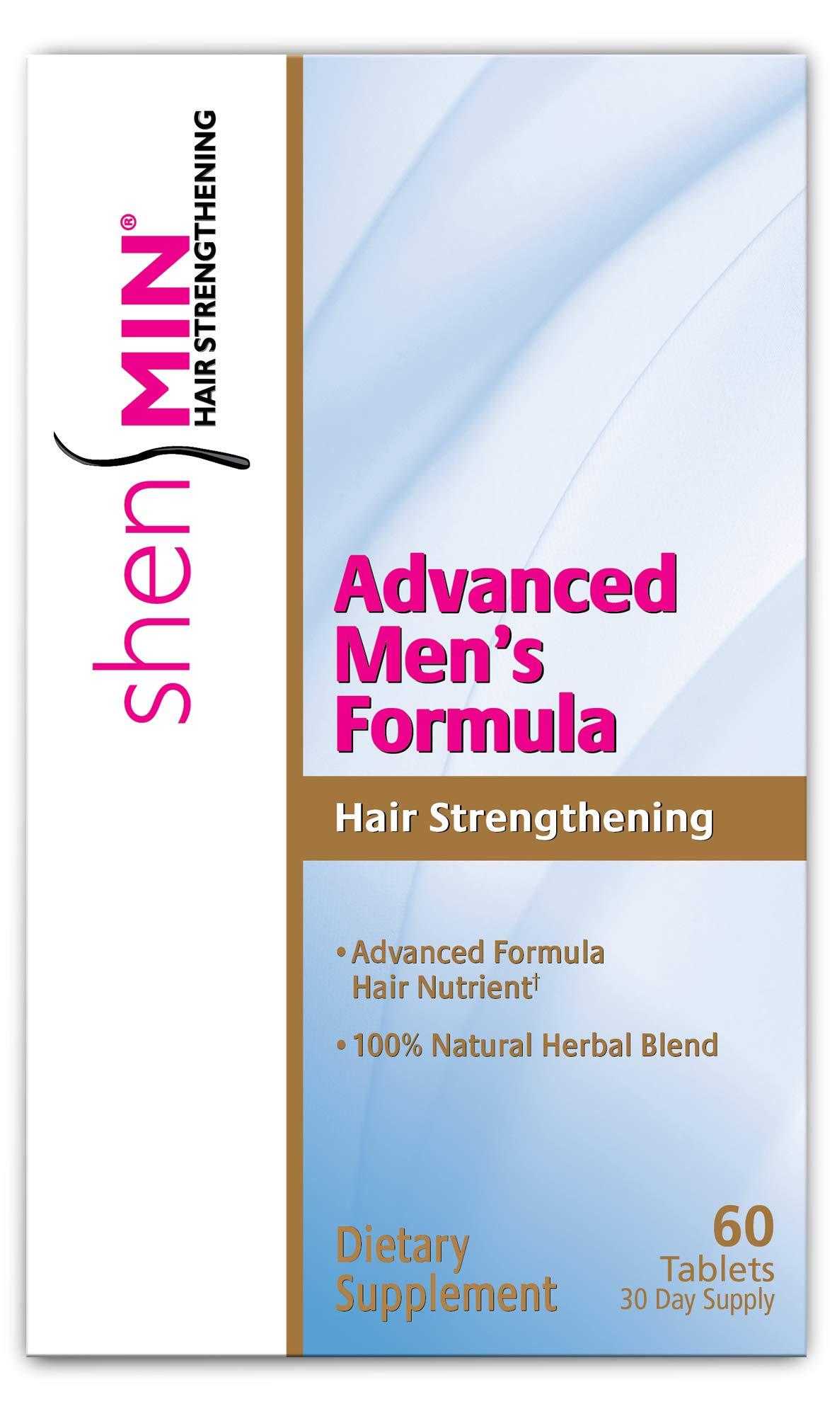 Shen Min Advanced Hair Strengthening Formula for Men, Tablets, Pink, 60 Count
