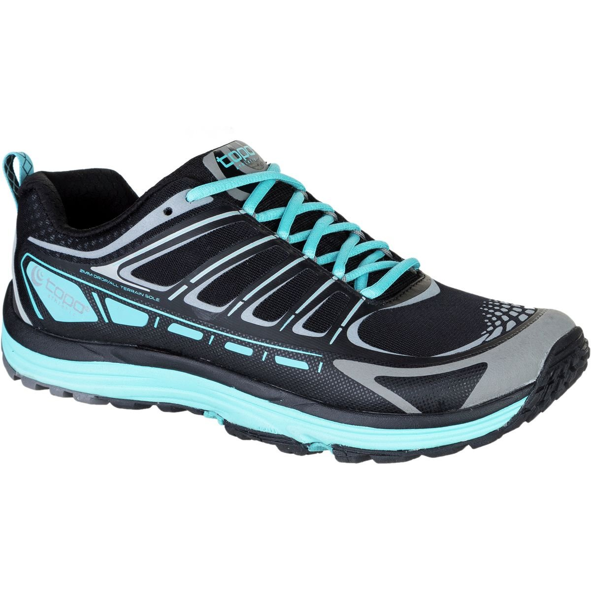 Topo Athletic Hydroventure Trail Running Shoe - Women's Black/Turquoise 7