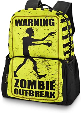 Holds 14-inch Laptop 10.5x5.5x15 Zombie Laptop Backpacks College School Bookbag Travel Hiking Camping Daypack for Women Men