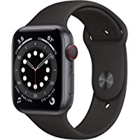 Apple Watch Series 6 44mm GPS & Cellular Smartwatch (Black)