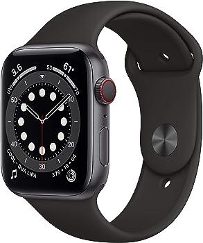 Apple Watch Series 6 44mm GPS & Cellular Smartwatch (Black)