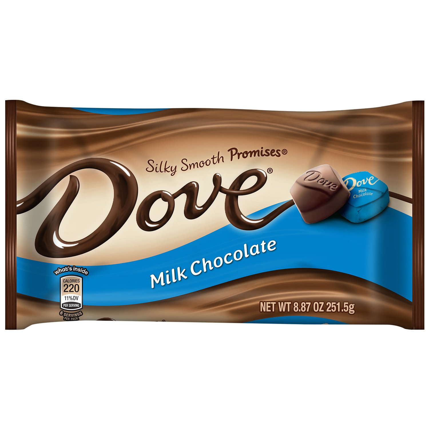 DOVE PROMISES Milk Chocolate Candy 8.87-Ounce Bag (Pack of 12) by Dove