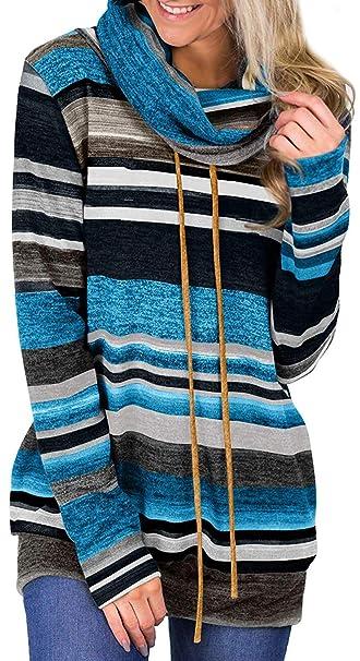 Socluer Sudaderas para Mujer con Cuello Alto y Manga Larga con Cuello Alto Sudadera con Capucha: Amazon.es: Ropa y accesorios