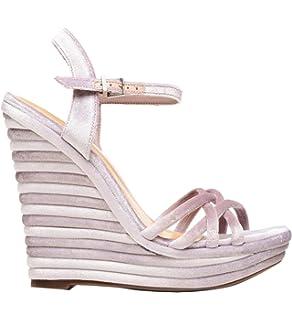 Schutz Juliana Velvet Purple Nubuck Stiletto High Heel Caged Single Sole Sandals