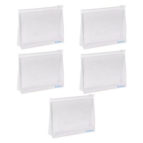 Amazon.com: Bcp 5 Pcs Bolsa de PVC Organizador Cosméticos de ...
