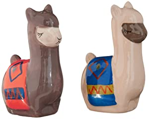 Boston Warehouse Salt&Pepper Set, Llama