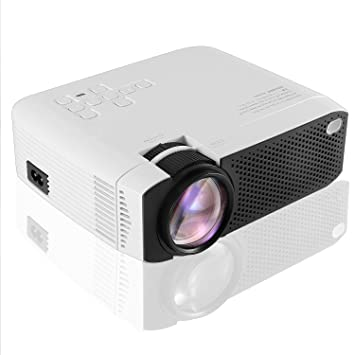Mini proyector portátil, 1080P Full HD Video Proyector 3800 Lumen Home Cinema Personal con para Tableta, HDMI, VGA, Micro SD, PS4 (E400)